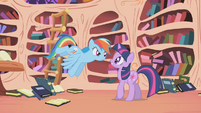Rainbow Dash 'And how did you know about Nightmare Moon' S1E02