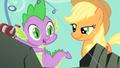 Applejack smiling at Spike S01E19.png