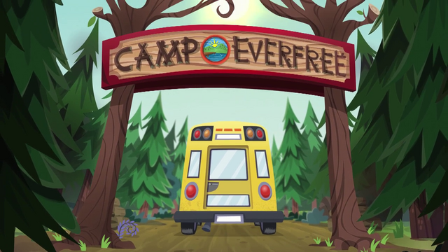 File:CHS bus drives through the Camp Everfree entrance EG4.png