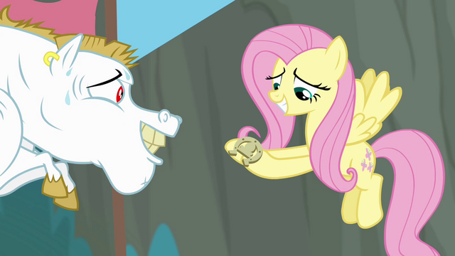 File:Fluttershy catches the horseshoe S4E10.png