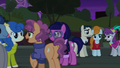 Neighborhood ponies and actors talking S5E16.png
