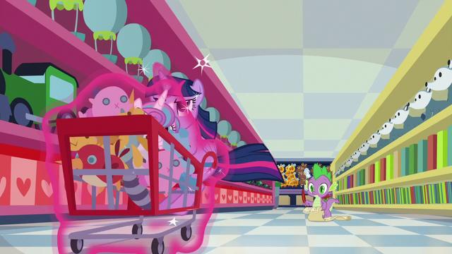 File:Twilight races the cart down the aisle S7E3.png