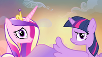 Cadance and Twilight hears Discord S4E11