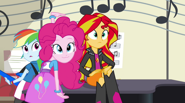 File:Pinkie and Sunset look toward Rarity EG2.png