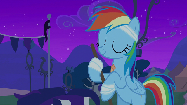 File:Rainbow Dash sweeps up with a smile S6E7.png