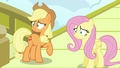 Applejack and Fluttershy worried all over again S6E20.png