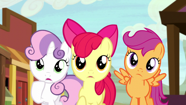File:Cutie Mark Crusaders worried S5E6.png