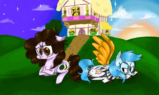 File:FANMADE Two pony OCs by Kitttilot.jpg