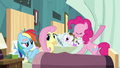 Pinkie Pie pulling the curtains S2E16.png