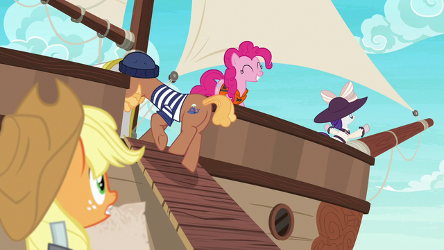 File:Pinkie and Rarity already on the ship S6E22.png