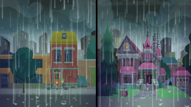 File:Rain pours over Sunset and Twilight's houses SS6.png
