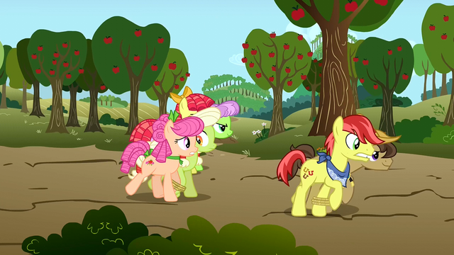File:Granny Smith and Apple Rose trying speeding ahead of everyone S3E8.png