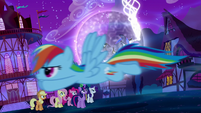 Rainbow Dash flies after the Tantabus S5E13