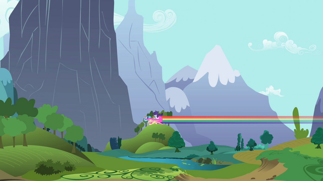 File:Rarity and Spike saved by their pegasi friends in the last second S02E10.png