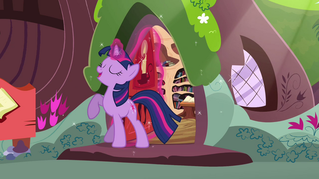 File:Twilight smiling with her hoof raised S3E13.png