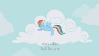 Rainbow stuffs cloud cotton in her ears S1E05