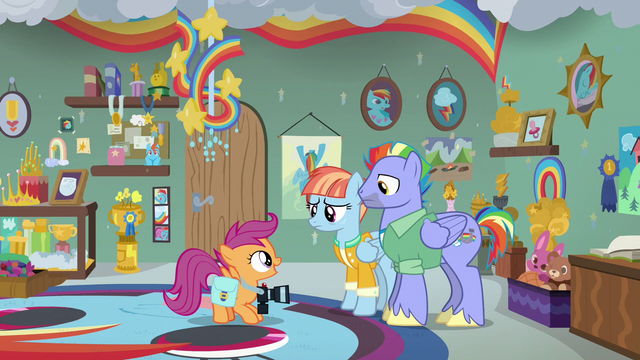 "File:Scootaloo ""getting chosen as a Wonderbolt"" S7E7.png"