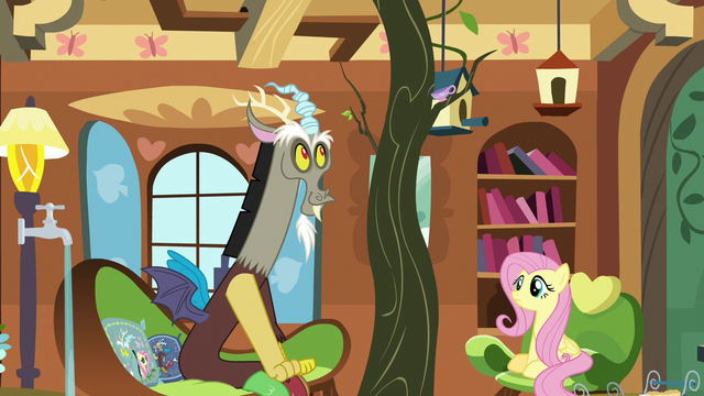 File:Discord makes a tree appear in Fluttershy's tree S7E12.png
