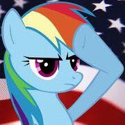 FANMADE Rainbow Dash salute