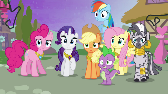 File:Ponies looking concerned S4E02.png