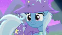 Trixie smiling warmly at Starlight S6E6