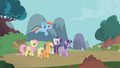 Twilight and friends follow the parasprites S1E10.png