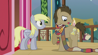 Dr. Hooves wearing a long scarf S5E9