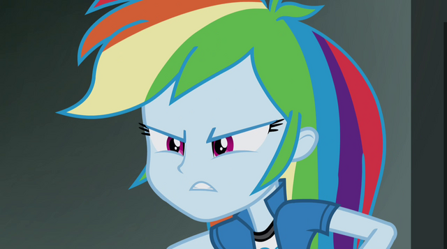 "File:Rainbow Dash ""yeah, well, you didn't"" EG2.png"