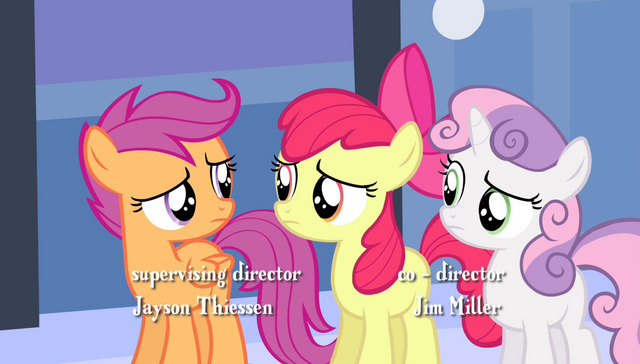 "File:Scootaloo tells Apple Bloom ""give it a rest"" S4E24.png"