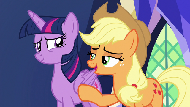 "File:Applejack ""just go with it, hon"" S7E11.png"
