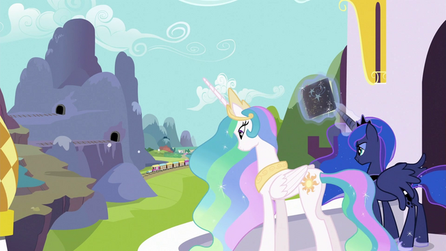File:Celestia and Luna watching over train S3E2.png