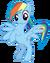FANMADE Rainbow Dash standing vector