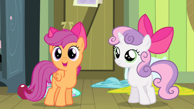 """File:Scootaloo """"Yeah, she's making your"""" S4E17.png"""