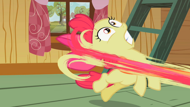 File:Apple Bloom being pulled S2E12.png
