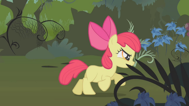 File:Apple Bloom running through the Everfree Forest S1E09.png