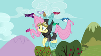Birds picking up Fluttershy S3E05
