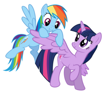 FANMADE Rainbow Dash and Twilight Sparkle