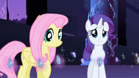 Fluttershy and Rarity with Elements of Harmony S01E02