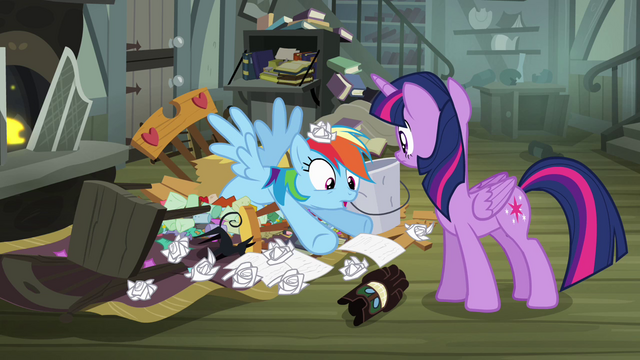 File:Rainbow Dash pops out of junk S4E04.png