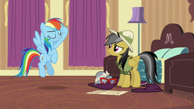 File:Rainbow Dash salutes to Daring Do S6E13.png