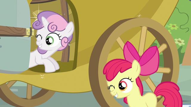 File:Sweetie Belle & Apple Bloom wink S3E4.png