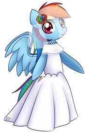 File:FANMADE Rainbow Dash in a wedding dress.jpg