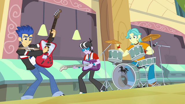 File:Flash Sentry and band in cafeteria EG.png