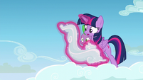 Twilight levitates a cloud S5E26
