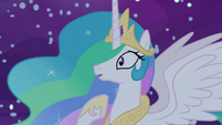 Celestia realizes she's talking to herself again S7E10