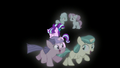 Filly Starlight walking with foals on her left and right S5E26.png