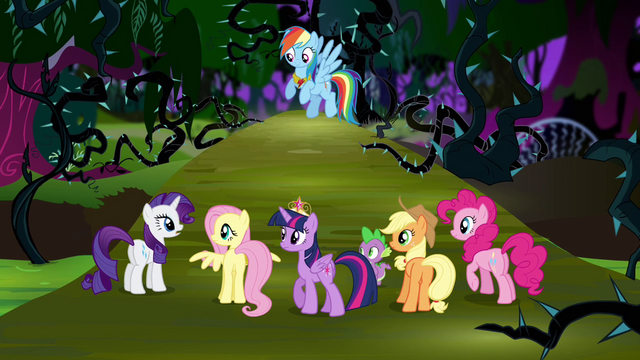 File:Main six in the Everfree Forest S4E02.png