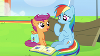 "Scootaloo ""confidence to believe in yourself"" S7E7"