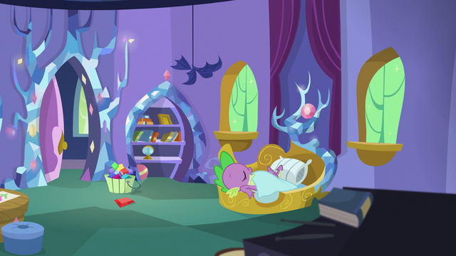 File:Spike sleeping soundly in his castle bedroom S5E7.png