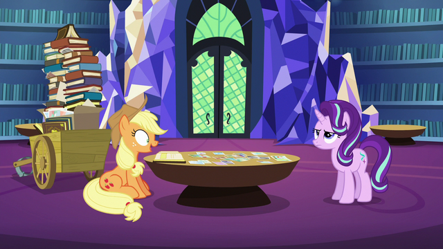 File:Applejack telling another abridged anecdote S6E21.png